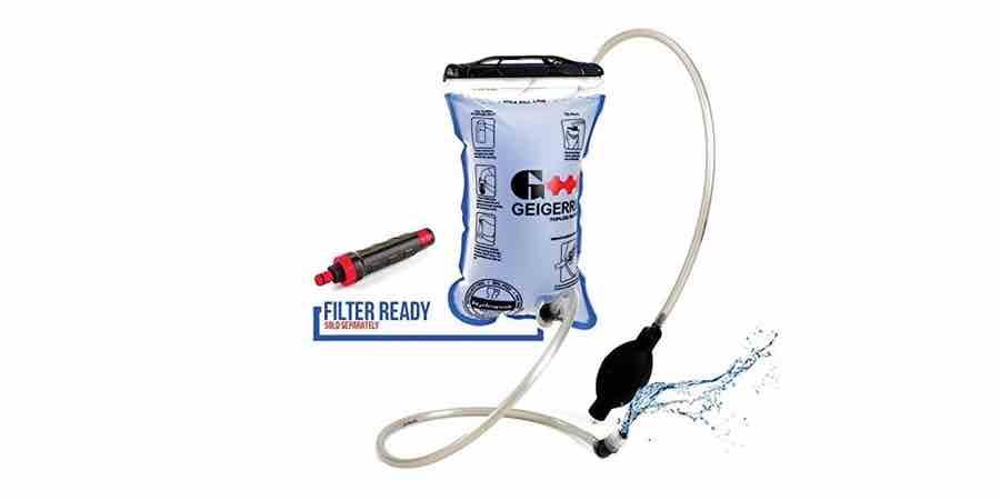 Sistema de hidratcion de las mochilas Geigerrig