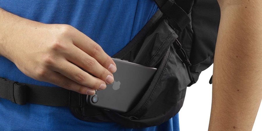 Bolsillos laterales elásticos de la salomon trailblazer 20 L
